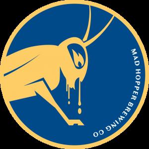Double Decker ESB beer logo, Mad Hopper Brewing Co., Helsinki, Finland