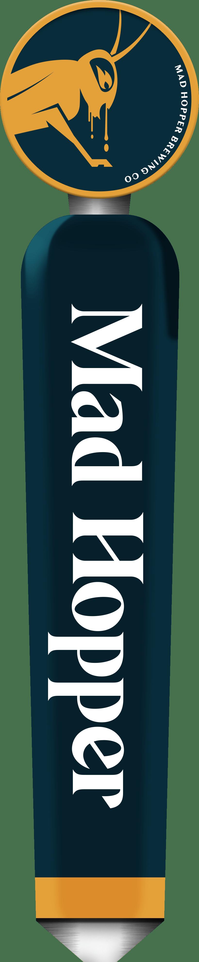 First Night Kveik Pale Ale beer tap label, Mad Hopper Brewing Co., Helsinki, Finland