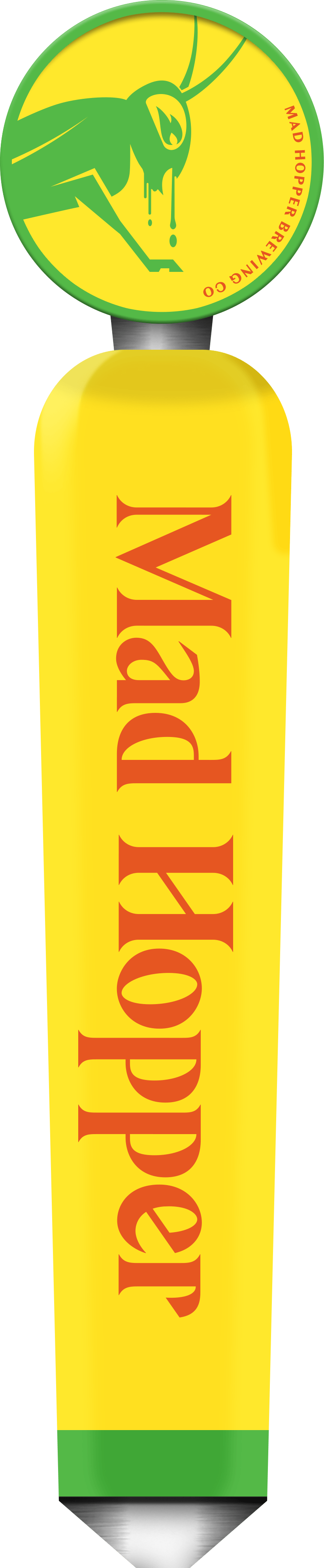 Mango Tango New England IPA beer tap label, Mad Hopper Brewing Co., Helsinki, Finland