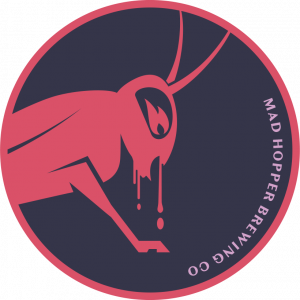 Night Fall beer label, Mad Hopper Brewing Co., Helsinki, Finland