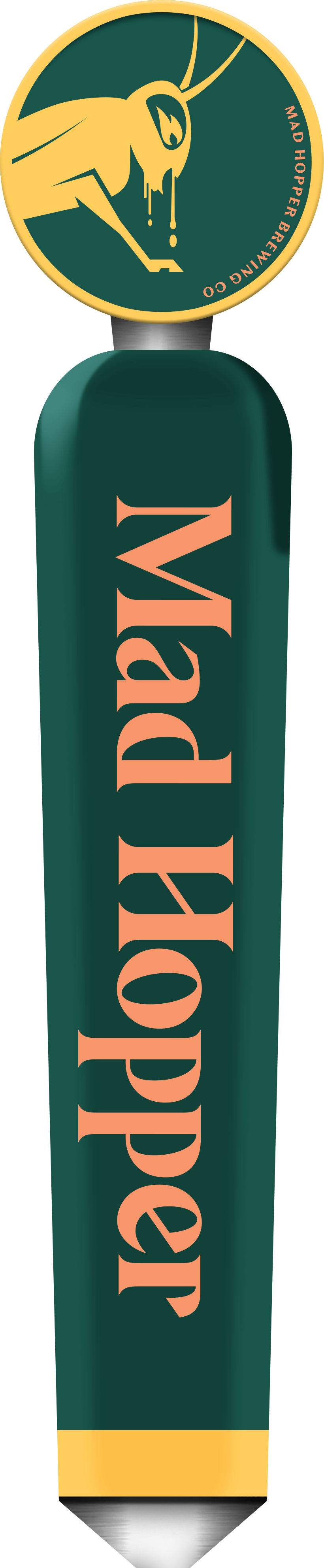 Truth Serum Kveik Double IPA beer tap label, Mad Hopper Brewing Co., Helsinki, Finland