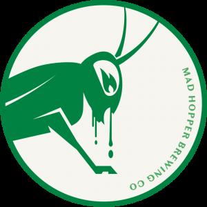 Waiheke IPA beer label, Mad Hopper Brewing Co., Helsinki, Finland